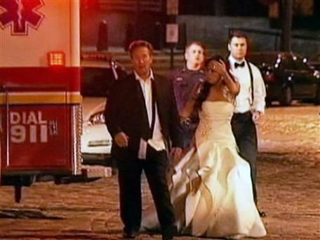 Wedding brawl aftermath: Groom's relative arrested for allegedly assaulting cop (Photo: NBC News) A New Jersey man who wound up being Tased by police has been identified as one of the main troublemakers in a brawl between two wedding parties at a Philadelphia hotel, authorities said. Read the complete story.