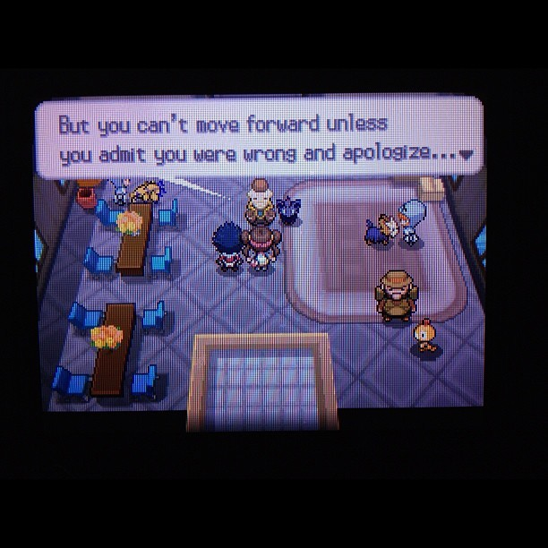 Life lesson in Pokemon. Take notes #pokemon #gaming  (Taken with Instagram)
