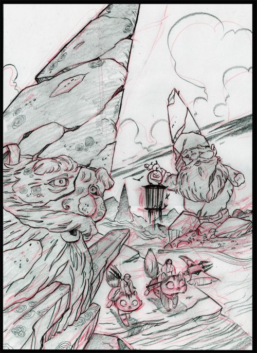 Proof that I'm working on the Battle Kittens graphic novel. Here's page 56. Our heroes are entering the dusty land of the ancients.