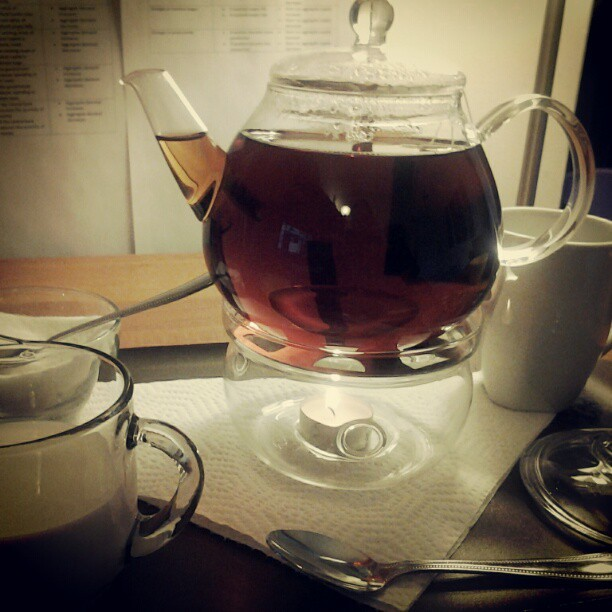 Tea time #tea #afternoon #happy #cold #autumn  (Taken with Instagram)