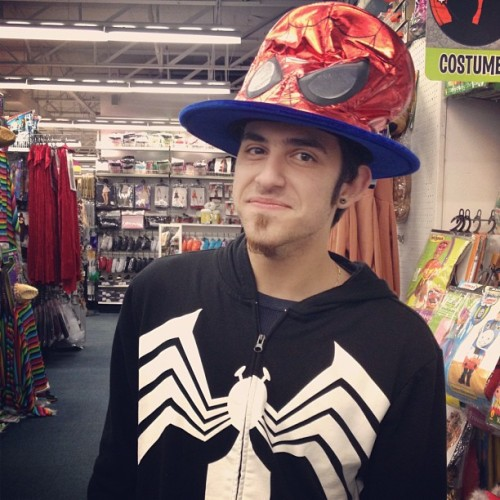 Uncle Spidey..what will they think of next. #spiderman #iparty #costume #hat (Taken with Instagram)