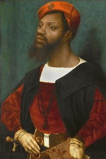 creolesoul:  A History of Black people in Europe  It is generally known that black people have been residing in European countries since the early colonial times. But even before the 15th century and during Roman times, a time when colour of skin still wasn't a racist stigma but just another physical feature, black people lived in Europe. Remains of a man with black African features were found in England recently, dating his life back to the 13th century. Read this article for more info.   Besides that, facts have been found of black people living in different parts of Europe, although I don't want to overstate their presence or influence. But it is generally known that during the Muslim era of the Iberian Peninsula (from the 8th century AD until the 15th century AD) people with dark skin were part of daily live. The Muslims who invaded Spain and Portugal around 700 AD were a mixture of black and dark people from North-Africa. They were often referred to as Maures, wrote about and painted, way before the dehumanization of black people started. I added above Jan Mostaert's portrait of a nobleman, guest of the Queen of Austria. This painting dates back to the early 1500's in what we now call Belgium, then part of the Duchy of Brabant. There is no doubt this man has African roots while being a respected member of European culture. We can only guess that this man is of Maure origin, i.e. a Muslim having converted to Christianity or even the second or third generation of converts. Below I will go deeper into the subject. I will give you some internet links, book references and a list of early Europeans of African descent, each time linked to their wiki page. If you know more about the subject I invite you to add information in a comment.Al AndalusMany blacks who were Muslims converted to Christianity after the emirate ofAl Andalus was abolished (end of 15th century). But the Reconquista took centuries (8th-15th century) and during those times black people gradually integrated the Christian and Northern European world. Among them were noble men and scholars. The negative image of blacks, as natural slaves, only gained prominence in the 18th century when the transatlantic slave trade became a central piece of European economical activity and later when European nation-states were being established. Slavery and racismOf course slavery existed before racism. In the 15th century blacks and whites were enslaved indiscriminately. Blacks in the America's could become free men and own their own slaves and land (which was rather common in colonial Brazil for instance). It is only in later years that being black made you a slave forever and by birth, or at least a kind of human always inferior to white people. This racial perspective on identity and humanity only gained authority in later modern times. Read more on the subject here.Coat of ArmsBlack people were part of European imagination and reality from very early times. Read more here and here. We can say with certainty that there were black people in Europe before that white people reached the area south of the Sahara. North Africa, Iberia and the Middle East were the crossroad where black and white intermingled. In Europe references to blacks was a positive sign of strength and military power. Still today you can find many blacks in coat of arms for towns all over Europe, central, south and north, dating back to the middle ages. Some LiteratureAfter the 15th century, Portugal entered an intense relationship with African kingdoms in the Gulf of Guinea and the Congo coasts. Slave trade (although not based on race) and exchange between the kings led to the presence of Europeans on the West- and Central African shores, just as Africans in Portugal. Accounts from those days tell us that the sight of black people in the streets of Lisbon wasn't a rarity during the Middle Ages, more on the contrary. I want to refer to following books for those who want to know more about this topic: Black Africans in Renaissance Europe, Thomas Foster Earle,K. J. P. Lowe(eds.)Africa's discovery of Europe, David Northrup As a consequence of the slave trade free blacks also arrived in Europe between the 16th and 19th century. Blacks lived in London, Liverpool, Lisbon, Seville, … during the 17th and 18th century. Other historical books with scientific authority give you in depth knowledge of this:Hugh Thomas's 'The Slave Trade'Ivan Van Sertima's 'African Presence in Early Europe'All this publications teach us something about this hidden part of European history.Leo AfricanusLeo Africanus is often stated as one of these black and European noble men and scholars. But it is rather speculation to state if he was black or white. He was definitely a Maure but as racism, whiteness and blackness were unknown concepts as we know it today, we can't know his 'race' for sure. This shouldn't surprise anyone. Even very common socio-cultural concepts of today such as 'French', 'German' or 'English' didn't exist in those days such that it would be silly to argue whether historical figures of those days were German or French. Same thing is valid for the white and black race as defined today. Famous Europeans with African ancestry (1500-1900)Below I will list some of the most famous figures of European modern history (after 1500) who happened to be black or have African ancestry, but were integral parts of European (high) society. Most of the time the African ancestry of these people is ignored by history books although acknowledged and accepted by most history scholars. I think it throws a new light on the concepts of race and the meaning of blackness in the 21st century. Alessandro 'il Moro' de Medici 1510-1537 Duke of FlorenceAbram Petrovich Ganibal 1696-1781 Major-general, military engineer, governor of Reval and nobleman of the Russian EmpireAnton Wilhelm Amo 1700-1775 German PhilosopherIgnatius Sancho 1729–1780 Author and abolitionist, UKOlaudah Equiano a.k.a. Gustavus Vassa 1745-1797Author and abolitionist, UKChevalier de Saint Georges 1745-1799A famous musican, composer and swardsman of his timesListen to his music here. Thomas Alexandre Dumas 1762-1806A general of the French RevolutionGeorge Polgreen Bridgetower 1780-1860Musician and composerListen and watch here Alexandre Pushkin 1799-1837Famous author, great-grandson of Abraham Petrovich GanibalAlexandre Dumas 1802-1870 French author of the world famous tale of 'The Three Musketeers', Thomas Alexandre Dumas's sonJohn Archer 1863-1931 Presumably UK's first black mayor, political activistSamuel Coleridge-Taylor 1875-1912Musician and composerListen to his music here (via afroeurope.blogspot.nl)