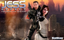 Jess Effect - Custom Mass Effect Wallpaper by Justin Page