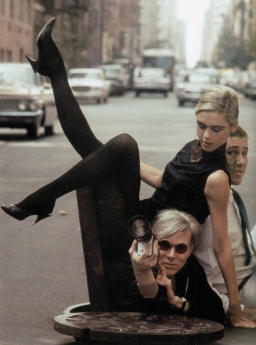 7sobm:  Andy Warhol, Edie Sedgwick and Kurt Wein by Burt Glinn.  7