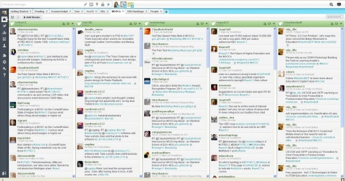 MOOC Survival Strategies 101 - Hootsuite Dashboard for MOOC hashtags. And yes, 403x (#stanfordedf), as previously posted, is (not a) MOOC.