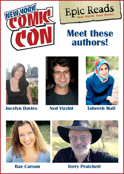 Meet these Epic Reads authors at NY Comic Con! Full schedule of events here.