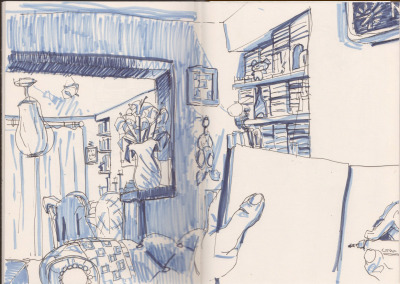 This is the finished drawing of my living room, of which there is a photo montage thingys post earlier ?