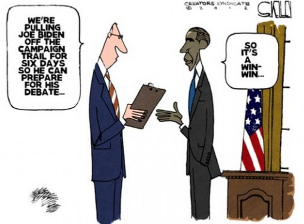 Cartoon of the day — All quiet on the Biden frontSTEVE KELLEY © 2012 Creators Syndicate More cartoons