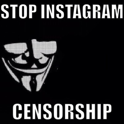 Stop #instagram #censorship #vendetta #guyfawkes #anonymous  (Taken with Instagram)
