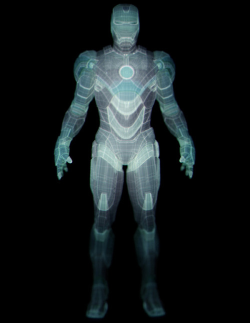 "(via IRON MAN II ""Hologram Armor Suit Development"" on the Behance Network)"