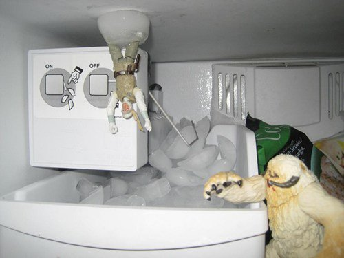 collegehumor:  Star Wars Freezer Reenactment  The Ice Planet Hoth also doubles as the place where I store my chicken parm.  approved for my freezer