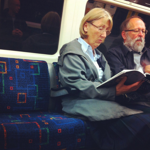 icefloe:  People watching  Reading 50 Shades of Grey Large Print Edition.