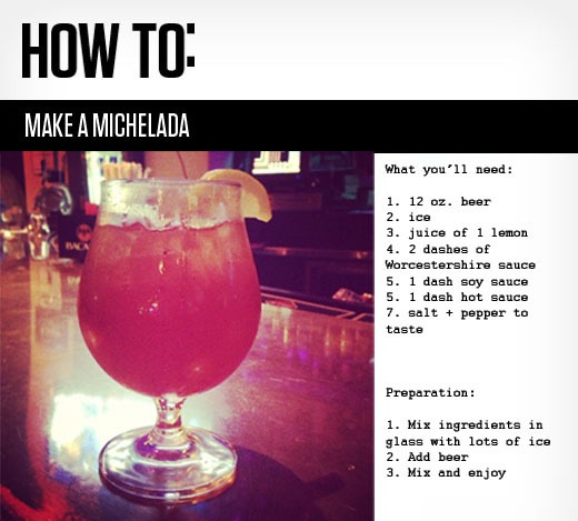 How to: make a michelada cocktail?