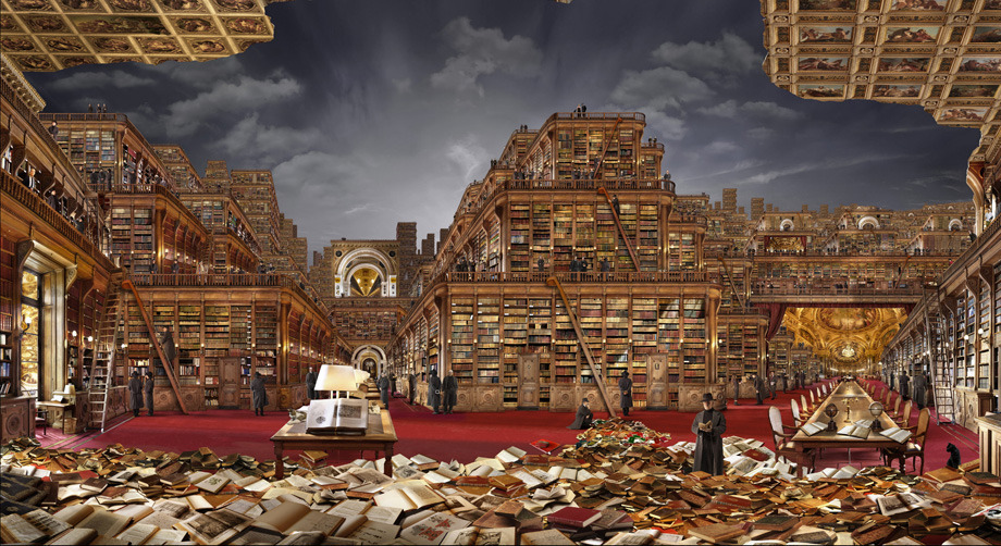 Bibliothèque idéale 1 by Jean Francois Rauzier click the link for the full virtual experience!