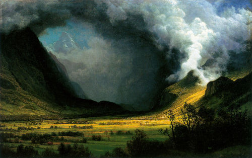 Albert Bierstadt, Storm in the Mountains, 1870.