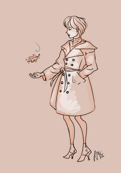 pluww answered: cool trench coat person