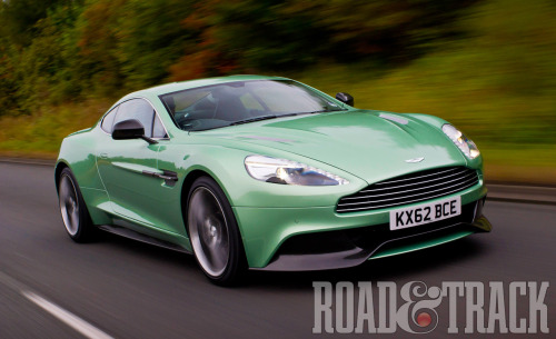 Aston Martin's newest flagship, the 2014 Vanquish, trades a stiff upper lip for a sexier body and a gutsier soul. (Source: Road & Track)