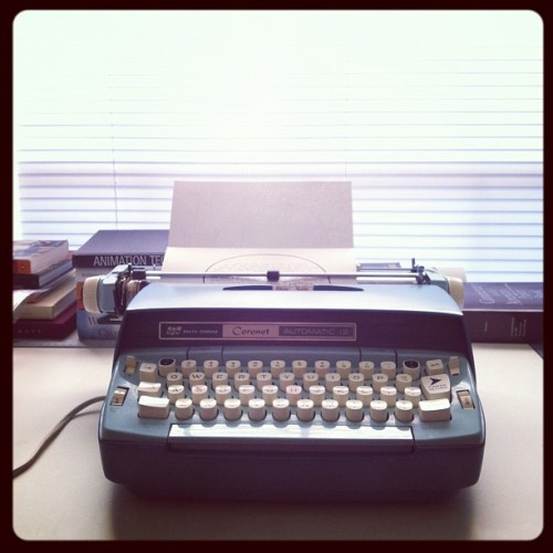 just workin on some stuff. #smithcorona #typewriter (Taken with Instagram)