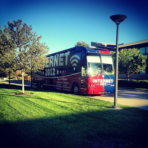 Ready for the @Reddit Internet bus tour!  (Taken with Instagram at Kauffman Labs for Enterprise Creation)