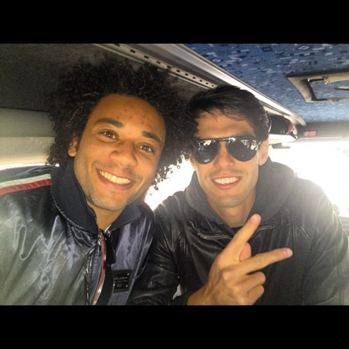 "Me and @kaka ""Tom Cruise"" haha (marcelo)"