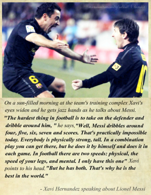 Interviews: Xavi speaks about Lionel Messi (SI)