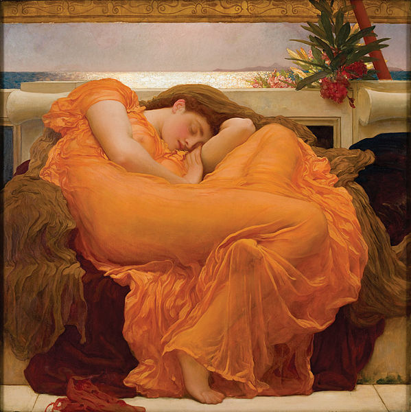 cavetocanvas:  Lord Frederic Leighton, Flaming June, 1895
