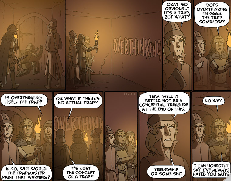 Not all traps require a saving throw. [Source: Oglaf]