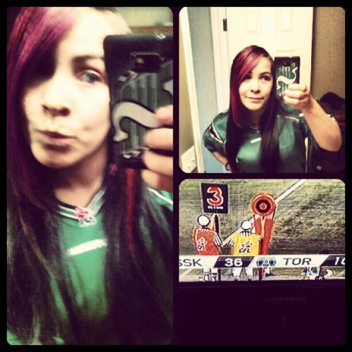 Game day pride!! #RiderNation #Bigwin @sskroughriders (Taken with Instagram)