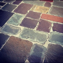 __________________________________ Colorful stone pathway at Greystone Mansion in Beverly Hills