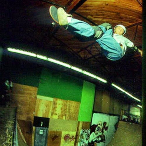 Tail grab nose bone , Richmond Skate Ranch 1993 . I want a time machine ! Such amazing times ! Thank you Kevin Harris !  (Taken with Instagram)