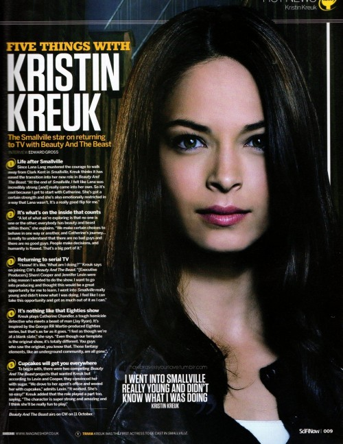 howbraveisyourlove:  Kristin Kreuk / Beauty and the Best featured in 2012 ScifiNow Issue 71 (Gallery)