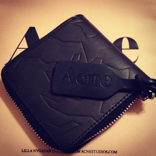 Finally, say hello to my new @acneonline wallet. #acne #acnestudios #wallet #amber (Taken with Instagram)