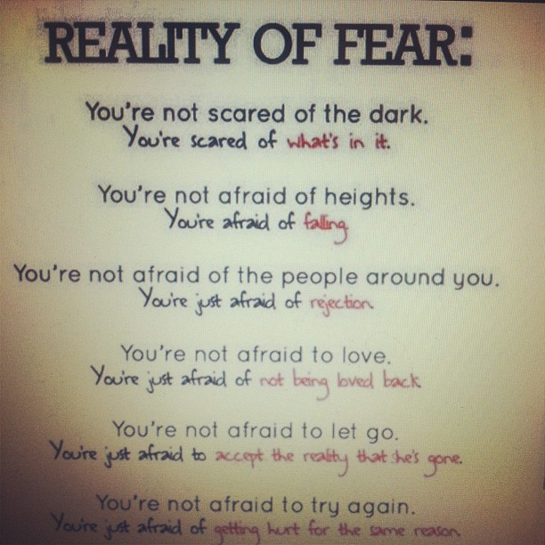 kenkenloves:  Reality of fear. #lolsotrue #true (Taken with Instagram)