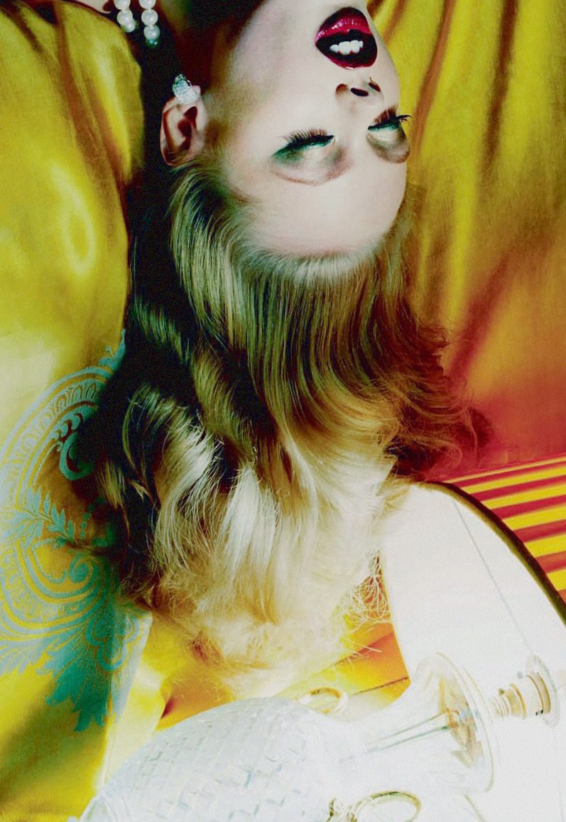'Vogue Beauty' Frida Gustavsson photographed by Miles Aldridge for Vogue Italia, October 2012