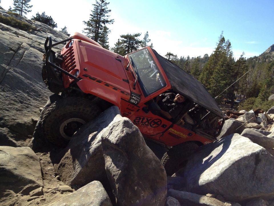 EVO 1 last time on little sluice on the rubicon trail