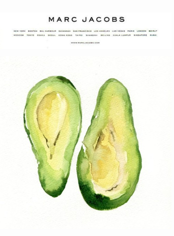 Didn't know Marc Jacobs designed avocados! Wow, learn something new everyday!