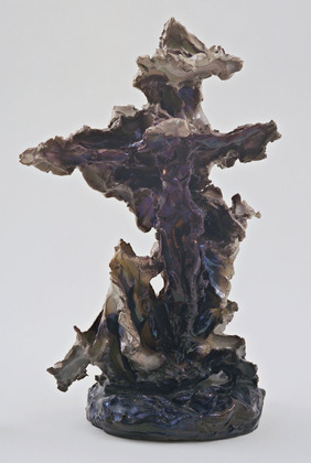 Lucio Fontana, Crucifixion, 1948.  Glazed ceramic, 48.6 x 31.4 x 23.2 cm (19 1/8 x 12 3/8 x 9 1/8 in).