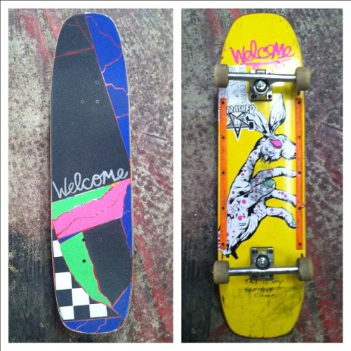 Finally set up my new wand today! @welcomeskateboards thanks again for the awesome grip! Also skating my first pair of @acetrucks soooo good and loose! (Taken with Instagram)