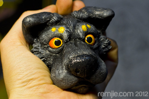 DOLLS FOR SALE! Werewolf puppy face. Cast in resin. He will be up for sale in my store tonight!