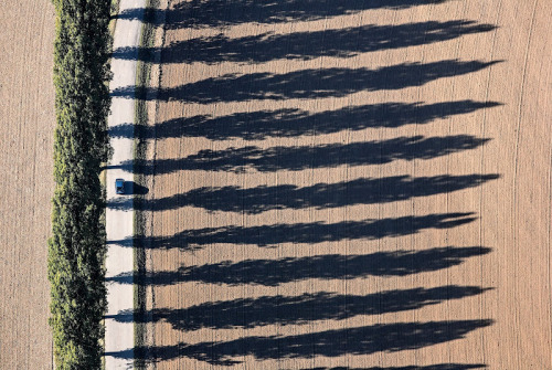 Low Sun = Long Shadows. Nicely composed aerial photo by Klaus Leidorf