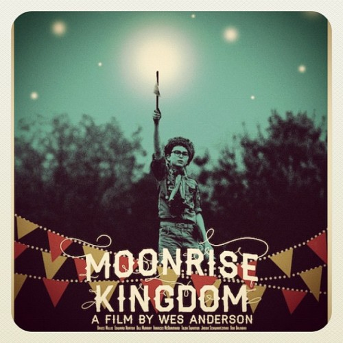 "Moonrise Kingdom poster by @nosupervision debuting at the Spoke Art NYCC booth this weekend! Come meet the artist and get your poster signed, only 50 copies in existence! Booth #3220, part of our third annual Wes Anderson-tribute art show, ""Bad Dads"" (Taken with Instagram)"
