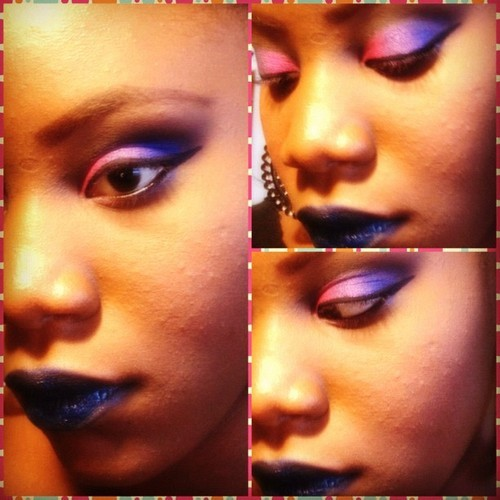 makeupfever:  Just wanted to share this look. It's called Chaos & Noise. I primarily used the new Vice Palette from Urban Decay.    http://bm0r3natural.tumblr.com/