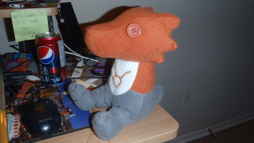 fluffy-moose:  Pictures of the scalemate I've been working on!! This one is for SooperSpoopy (My moirail, Saxon). She requested a Tavros Scalemate, so I didn't my best to make her one. I'm not very satisfied with the result of the colour, but she likes and and that's all that matters!! I'm giving it to her later and will have a picture of her with it soon!! <3 I AM taking requests for these, but starting now, I'm going to ask that you donate a 15 dollar fee for shipping once I get PayPal set up. Not that I have a problem making these for people, but if you don't live in the city, or even Canada, shipping gets REALLY expensive… I hope you guys understand. Thank you!! <3