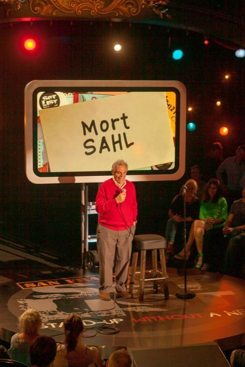 Mort Sahl by Merrilyn Romen. Photo courtsey of SET LIST.  [Legend.]