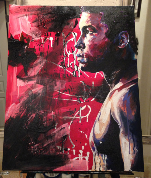 R. Peterson The Greatest (Ali) 22X28 Canvas Acrylic