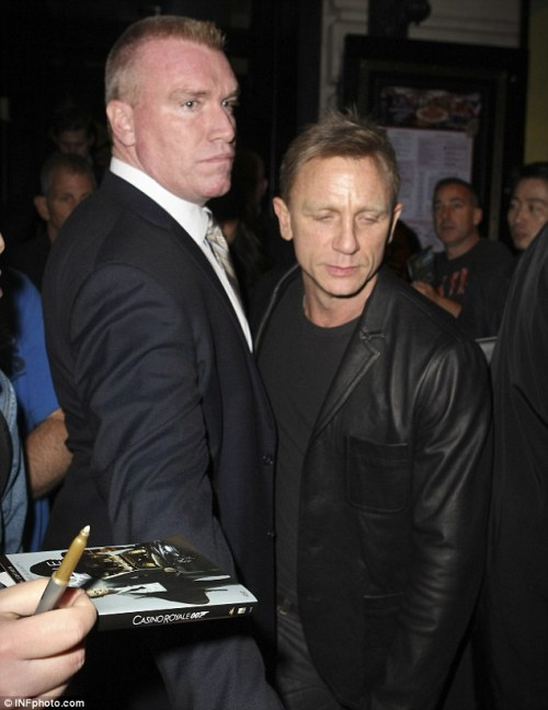 This bodyguard's got to be as scary as any goon in Skyfall.