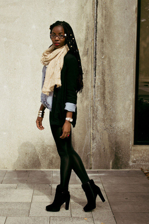 blackandkillingit:  blackfashion:  Stephanie, 21chocolatelaced.blogspot.com   Black Girls Killing It Shop BGKI NOW  I love her look…