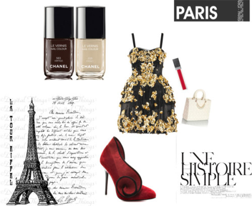 La nuit de Paris by snapbanana featuring a mesh dress