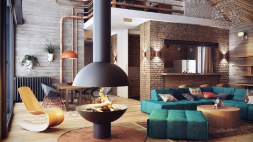 homedesigning:  (via Industrial Lofts)