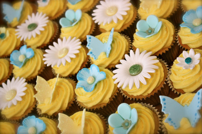 Lemon 80th Birthday Cupcakes by ConsumedbyCake on Flickr.